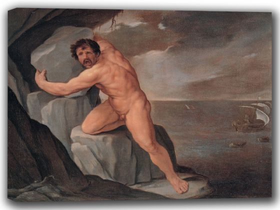 Reni, Guido: Polyphemus. Fine Art Canvas. Sizes: A4/A3/A2/A1 (002103)